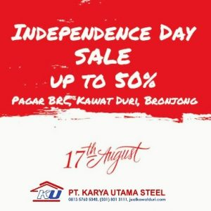 INDEPENDENCE DAY SALE up to 50 % Bronjong SNI